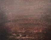 Original Painting Abstract Expressionism  Beauty Remains  15 x 30 Twilight evening plum  Swalla Studio
