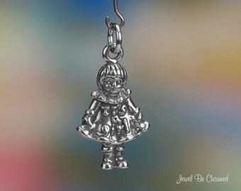 Sterling Silver It's a Girl Charm Baby Girl Child New Mom Solid .925