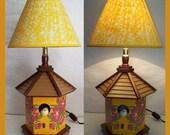 Sunshine Birdhouse Nightlight Lamp with Shade