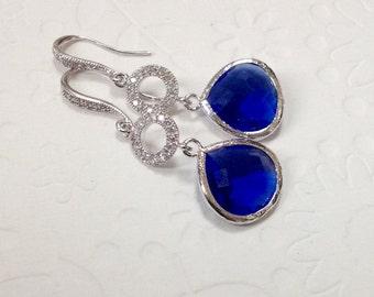 Bridesmaid Gift, Bridesmaid gift for wedding, Bridesmaid gift earrings, best friend gift, Bridesmaid cobalt blue gift, blue earrings gift