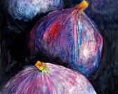 """A1 Original Painting """"Four Figs"""" Still Life Original Artwork"""