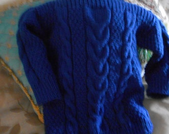 boatneck sweater cable sweater blue pull over