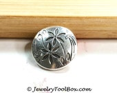 Metal Daisy Buttons, Shank 2mm, Antique Silver Pewter, 17mm Lot Size 5 to 30, #1271