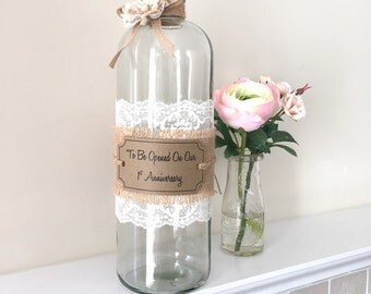 Message in a Bottle, Wedding Guestbook, Wedding Anniversary, First Anniversary, Wedding Wishes, Bride and Groom Wishes, Birdcage Card Holder