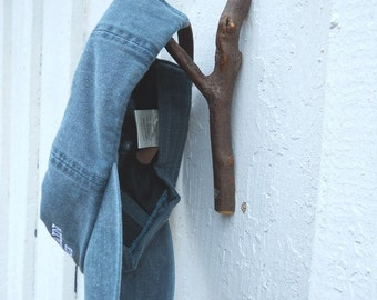Reclaimed Witch Hazel Twig Wood Wall Hook