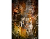 Cubistic Flat Top Country 6 String Acoustic Guitar - An Abstract Music Still Life Photograph