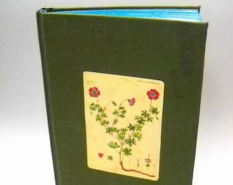 Botanical Journal, Hardcover Journal, Green Journal, Victorian Journal, Handmade Journal
