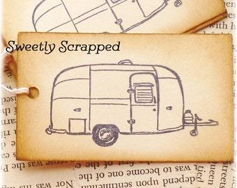Vintage Camper Tags .... Camping, Glamping, Vintage Style, Cream, DIY