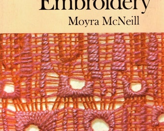 Pulled Thread Embroidery by Moyra McNeill  Must Have in Your Library of Stitching