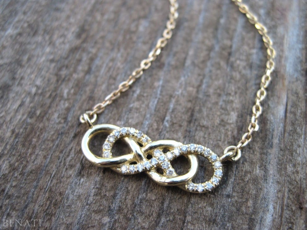 infinity necklace infinity knot by
