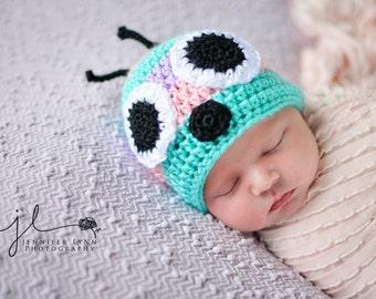 Crochet Baby Caterpillar Beanie Hat - Newborn to 10 years - MADE TO ORDER
