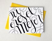 Tú eres el mejor - You are the best in Spanish - one card with yellow envelope