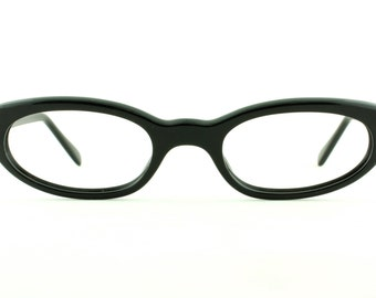 Vintage Deadstock 60's EI Odette Black Eyeglass Frames France Readers - FREE Domestic Shipping