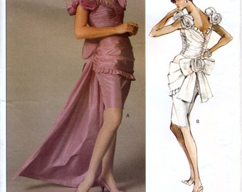 Vogue Designer Original 2277 Misses' Evening Dress Sewing Pattern by Bellville Sassoon - Uncut - Size 10 - Bust 32.5