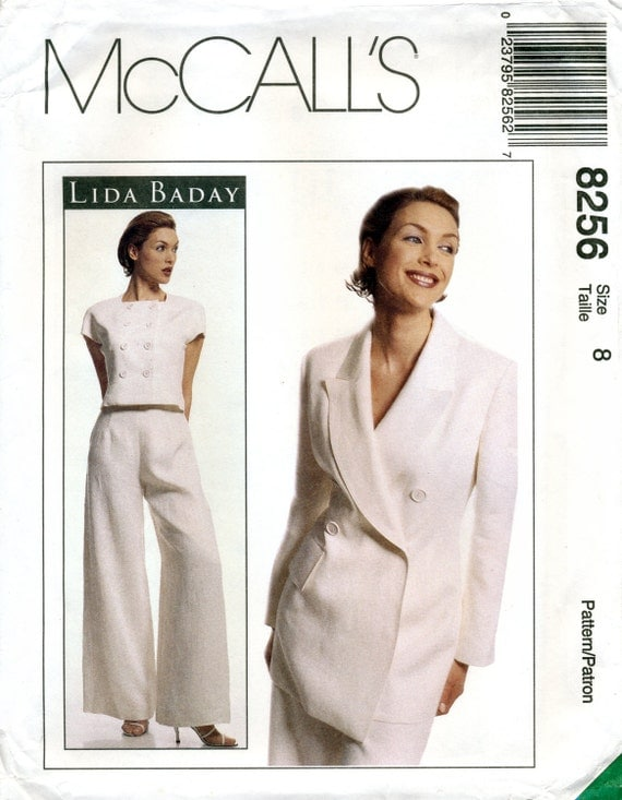 1990s Lida Baday pantsuit and top pattern - McCall's 8256