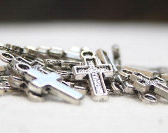 Pewter Cross - Charm size