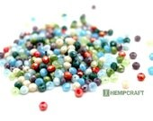 Tiny Faceted Glass Beads, 150pc AB Mixed Color Electroplate Glass Beads, 3-4mm