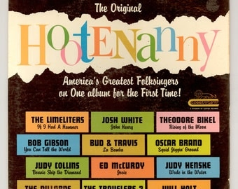 Original Hootenanny 1963 LP with New Performers Judy Collins & Judy Henske, Also Josh White, The Dillards Crestview Records, Vintage Vinyl