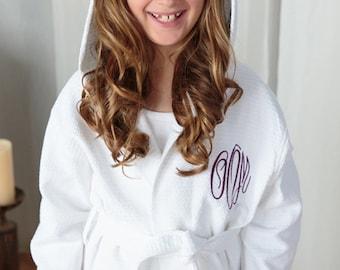 Spa Waffle Flower girl Robe, Kids Robe, Waffle Weave Robe, Children s Robe, Personalized Robe, Flowergirl robe, kids robes, childrens robe
