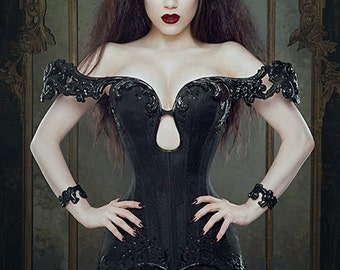 Dark Evil Queen 'Nocturnus' Crown Crystal Black Gothic Couture