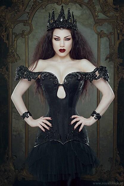 Dark Evil Queen 'Nocturnus' Crown Crystal by livfreecreations