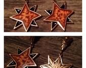 Vintage Yves Saint Laurent YSL Enamel Star Dangle Earrings