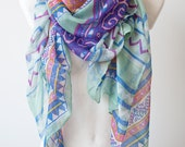 Xmas SALE Pastel Tribal Infinity Scarf Fall Scarf Winter Soft shawl Large Scarf summer wrap Gift Holiday Gift Shopping festival