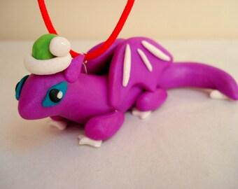 Christmas Dragon Ornament Polymer Clay Dragon Christmas Ornament Geek Christmas Ornaments Geek Gift Ideas Dragon Christmas Decoration