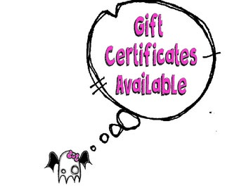 Oddball Art Co. Gift Certificates YOU Choose How Much