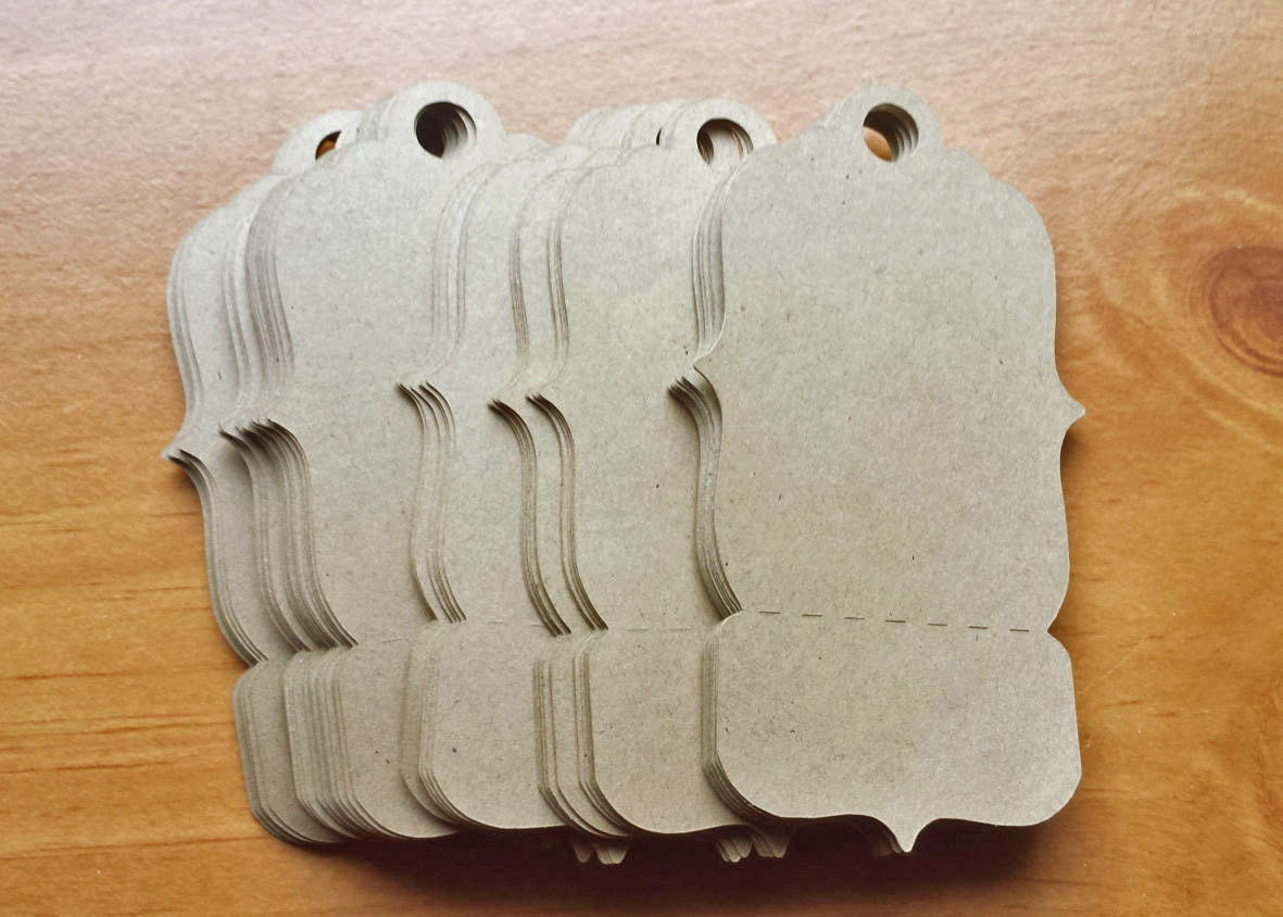 24 kraft paper tags large perforated tags for craft fairs and 400 jeuxipadfo Choice Image