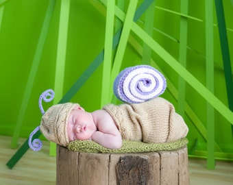 Newborn Snail Cocoon Set - Your Choose Color