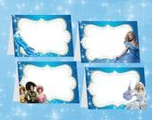Cinderella Food Tent Cards, Cinderella 2015, INSTANT DOWNLOAD, Cinderella Food Label Cards, Party Printable, matches Birthday Invitation
