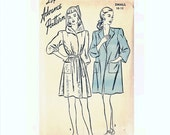 1940s Beach Robe Pattern Hooded Beach Robe Bust 28 30 Size 10 12 Advance Pattern 4239 Vintage Sewing Pattern