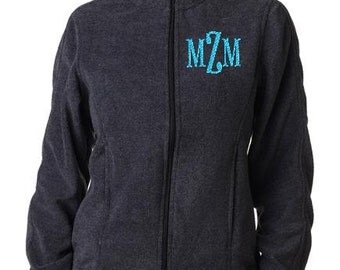 Personalized Ladies Iceberg Fleece Full-Zip Jacket  Monogram or Name Included