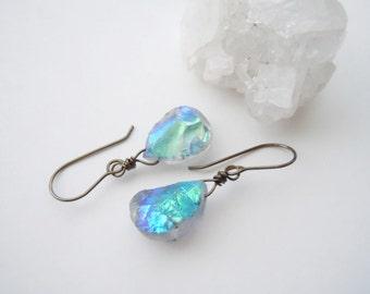 Raw Crystal Earrings - Mystic Aura Quarzt Dangles