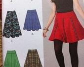 FLARE SKIRT TRENDY Skirt Misses Simplicity 1500 Multi Sizes Simplicity Skirt with 6 Styles Sizes 2010 Sizes 14 16 18 20 22 Skirt