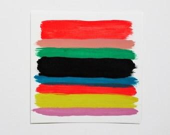Palette Color Study One 6x6 canvas paper original painting