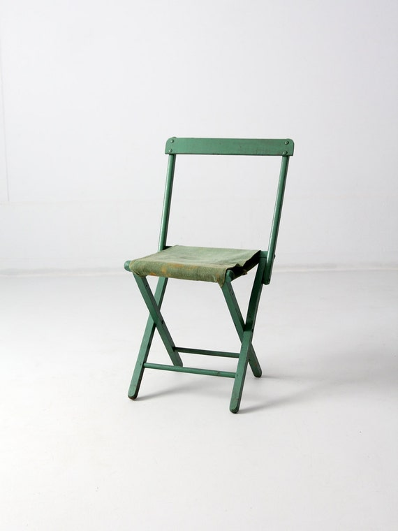 Vintage Camp Chair Mint Green Folding Chair