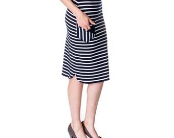 Scalloped Tea-length Pencil Skirt