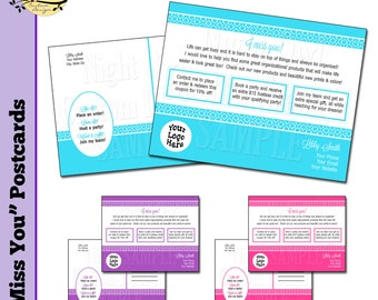 "Direct Sales Consultant - ""I Miss You"" Customer Postcard - DIY, digital File"