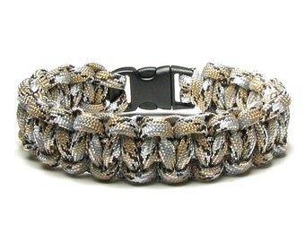 Paracord Bracelet Scorpion Camouflage Desert Camo Survival Accessory For Men Military Father's Day Hiking Army Gear Cord Beige Gift Veteran