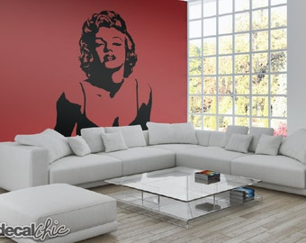FREE SHIPPING Marilyn Monroe Wall Decal - Custom Color & Custom Size