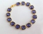 Gold Purple Bracelet. Purple Bracelet. Tanzanite. Amethyst.Dark Purple.Bridesmaid Bracelet. Wedding Bracelet.Bridesmaid Gift.Bridal Jewelry
