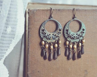 SALE - gypsy chandelier earrings.