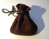 Leather Pouch Bag -  Cross Body Bag - Shoulder Bag - Brown