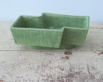 Nice Apple Green Glazed Pottery Planter Pot