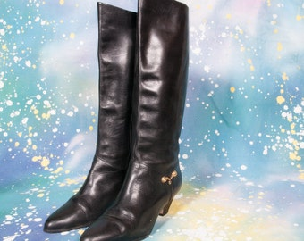 Tall Black Dress Boot Size 8 .5 Narrow
