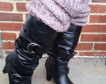 Pink & Grey Leg Warmers