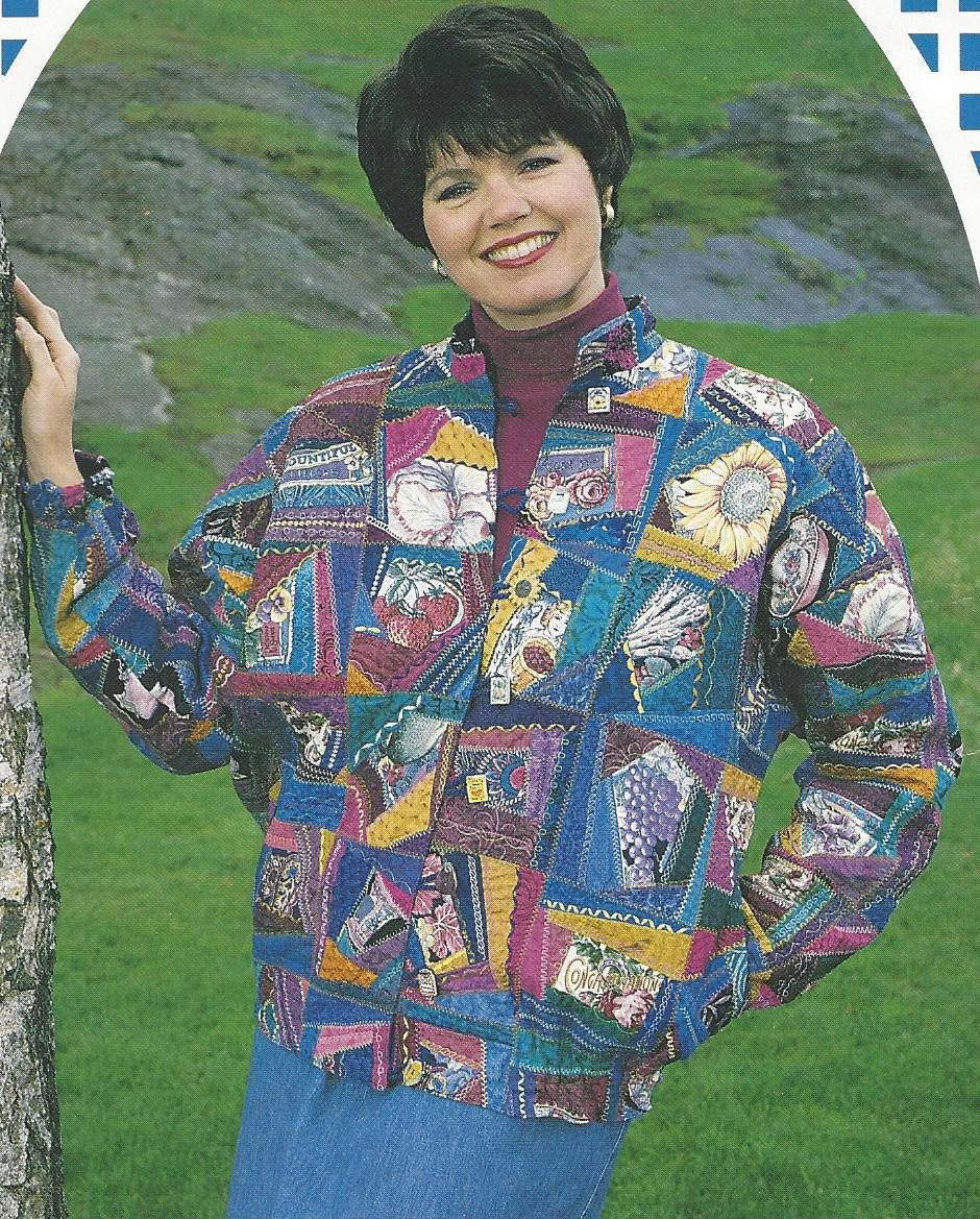 90s Crazy Quilt Jacket Pattern By Back Porch Press Womens