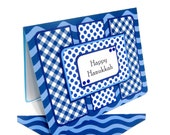 Happy Hanukkah Card with Matching Embellished Envelope